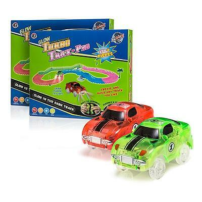 New Turbo Trax Kids Race Car with Track Twin Pack ? Childs Racing