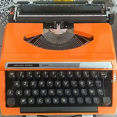 Machine à écrire orange vintage  Silver Reed 100   Typewriter vintage an 70