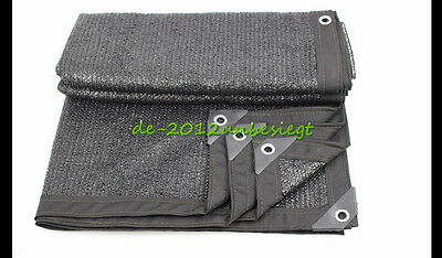 Blackish Green Shade Cloth Taped Edge with Grommets Quick Assembly Construction