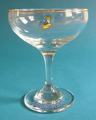 Pair of 1960s Babycham Glasses