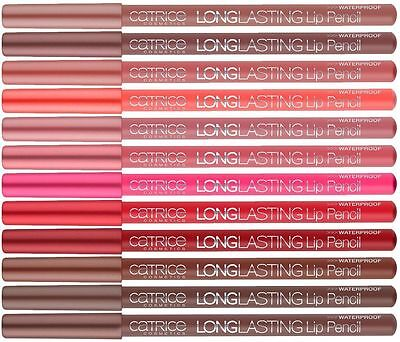 Catrice Cosmetics Longlasting Lip Pencil Waterproof Texture *Choose Your Colours