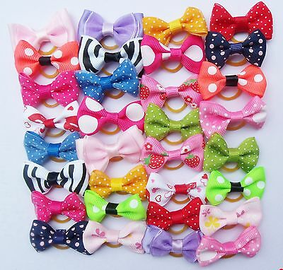 Pair of Bows Hair Grooming Dog Puppy Pet Cat Fashion Ribbon Knot Accesories