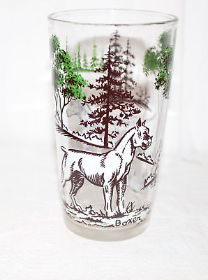 Vintage Swanky Swigs Sporting Dogs Vintage Breeds Glass Boxer & Dalmation