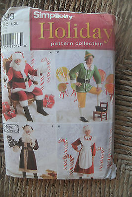 Simplicity Pattern 4393 Holiday Pattern Collection Sz BB L-XL