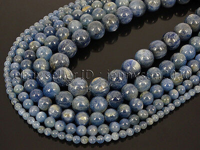 Natural Kyanite Gemstone Round Loose Spacer Beads 15'' 4mm 6mm 8mm 10mm 12mm