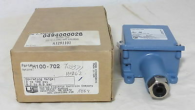 United Electric H100-702 *new* 100 Series Pressure Switch 3-100 Psi (2B3)
