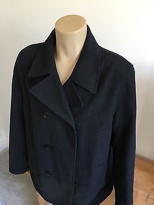 Men's Marks And Spencer Peacoat Winter Coat Jacket Large