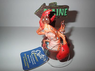 Small Maine Lobster Pot Aquarium Fish Tank Ornament Decoration