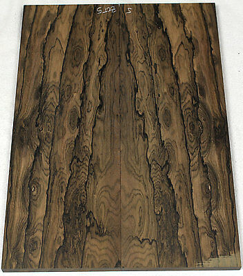 """Quartersawn Ziricote carve top for electric guitar or bass 6.9x19.4x.64""""  #ZCT5"""