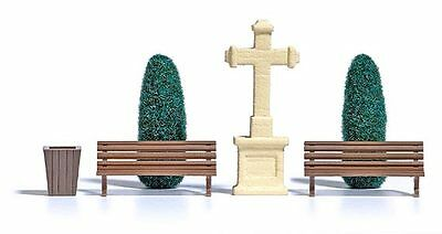 Busch 8860 TT 1:120 Stone cross and Trees of life new original packaging
