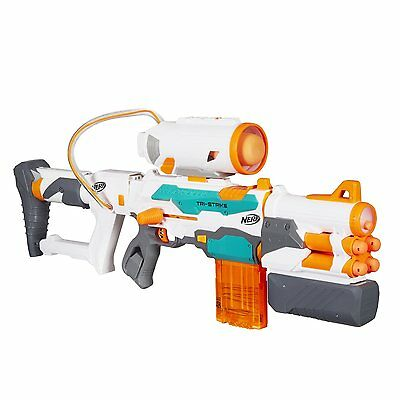NEW NERF N-Strike Modulus Tri-Strike Blaster Elite Kids Dart/Darts Gun Game Toy