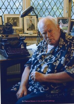A4 signed Patrick Moore photograph