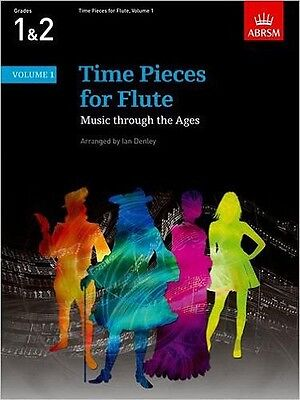 ABRSM Time Pieces for Flute, Grades 1 & 2 Vol 1: Music thru the Ages BRAND NEW !