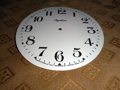 "For American Clocks-Ingraham Paper Clock Dial-5 1/2"" M/R-Ivory White Gloss-Faces"