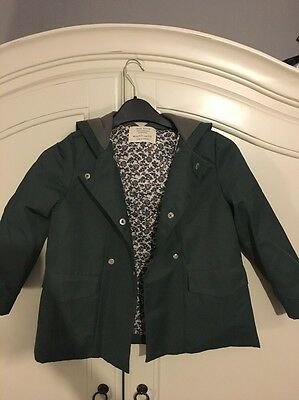 Girls Zara Jacket Age 5-6 Years.