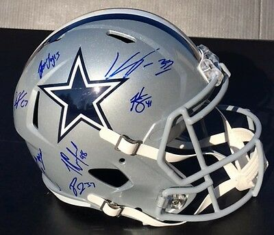 2016 DALLAS COWBOYS TEAM Signed Autographed SPEED Football Helmet COA! SB CHAMPS
