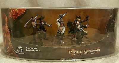 Disney PIRATES OF THE CARIBBEAN Dead Man's Chest Figurine Set Johnny Depp New