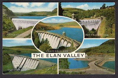 """THE ELAN VALLEY"" Multi View Postcard Radnorshire Wales"
