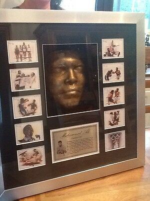 """Muhammad Ali Face Mask In Bronze Picture 32x32"""" Stunning Limited Edition RARE 3D"""