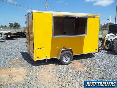 2016 6x12 New concession vending trailer yellow 6 x 12 enclosed cargo trailer