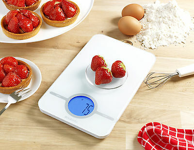 Brabantia Electronic Digital Kitchen Scales with Hanging Loop White Red or Mint