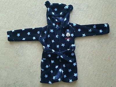 Mickey Mouse Boys Dressing Gown Blue 12-18 Months