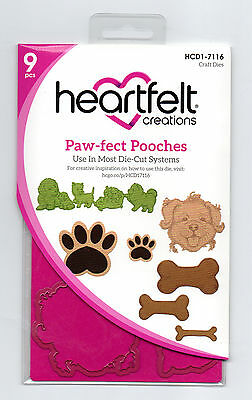 Heartfelt Creations Paw-fect Pooches Die for Cardmaking,Scrapbooking, etc