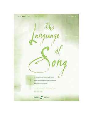The Language of Song (elementary) Low Voice Sheet Music Book/WITHOUT CD - NEW