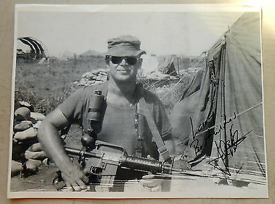 "8x 10"" B + W Photo Signed by John E Peters, FOB 1 & 2, MACVSOG VG Condition"