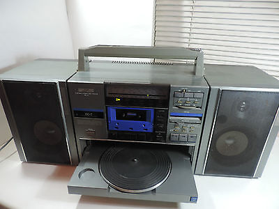 Huge Loud Retro Ghettoblaster Boombox Stereo Jvc Dc-7L Tape - Record - Radio