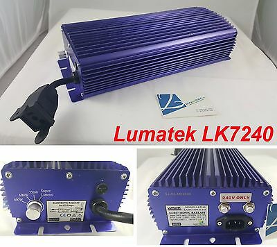 Lumatek LK7240 Lamp 750W H.P.S 240Volts Electronic Dimmable Digital Ballast HPS