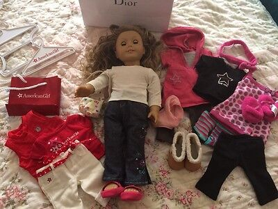 American Girl Lot Doll Clothes Shoes Dirty Blonde Hair Freckles