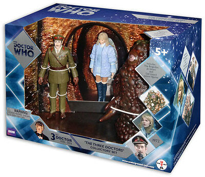 """Doctor Who 3rd Doctor """"The Three Doctors Collectors' Set"""" BBC"""