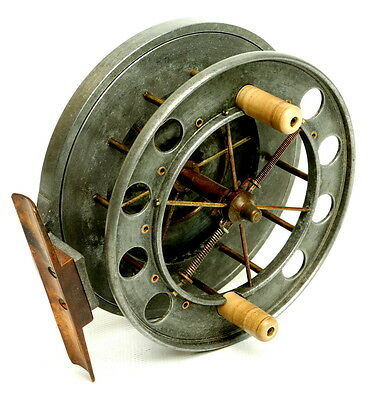 "4-1/2"" wide drum alloy Allcocks Aerial vintage fishing reel 7950 T3"