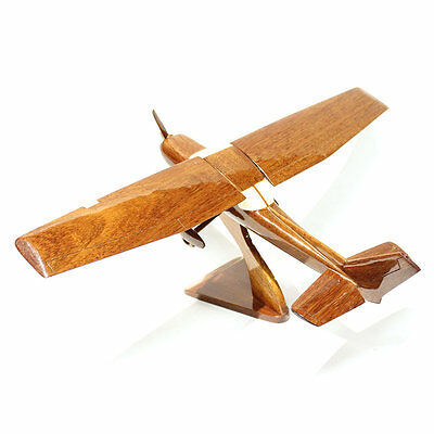 Cessna 172 Airplane Mahognay Wooden Model