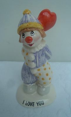 """Beswick Clown """" I Love You """" Heart Balloon Vintage Excellent Condition LL9 Gift"""