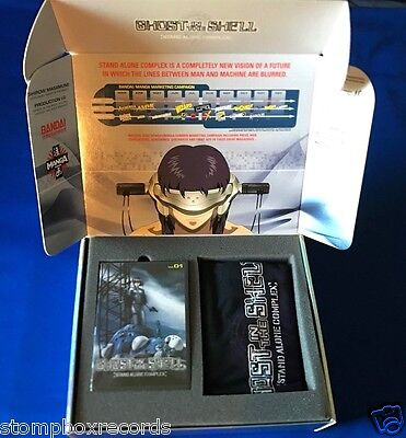 RARE 2004 Ghost In Shell Stand Alone Complex PROMO ADVANCE BOX SET DVD TSHIRT