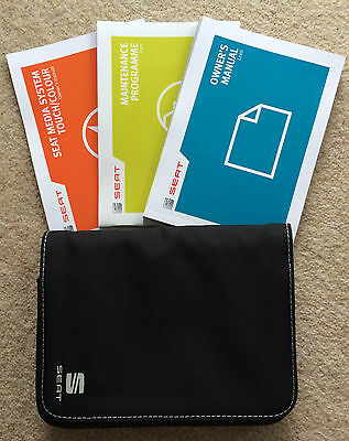 Seat Leon Owners Manual Handbook Pack With Wallet With Service 2012-2015 Ref2674