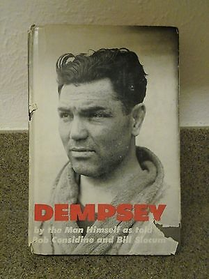 Jack Dempsey signed Book