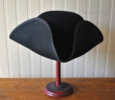 """Colonial Tricorn 4"""" Hat - Size 7 3/8 - Revolutionary War - FREE SHIPPING!!"""