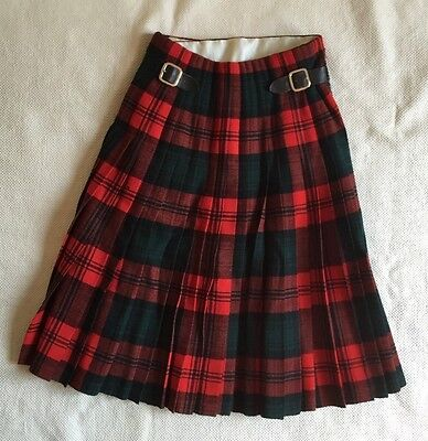 RARE Vintage 1948 Kilt King George William Anderson Red Green Collectible Womens