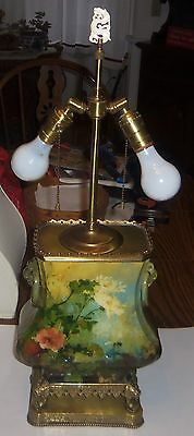 """Gorgeous """"Impressionist"""" Style Ceramic/Porcelain Hand Painted Table Lamp"""