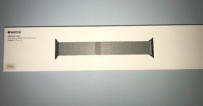 NEW Genuine Apple  Watch Band -  42MM MILANESE LOOP SPACE BLACK MLJH2AM/A