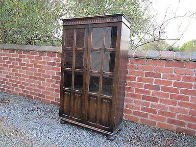 Oak Glass Fronted Display China Cabinet