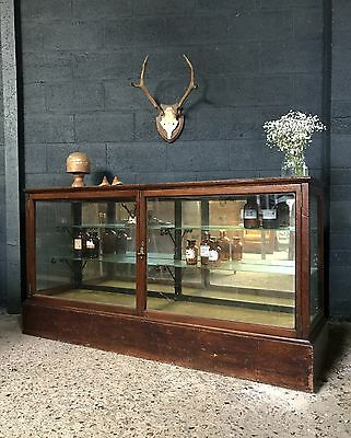 Superb Antique Edwardian Haberdashery Chemists Shop Counter Display Cabinet
