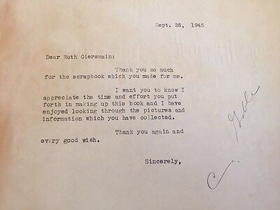 1945 RARE Personal Signed Thank You Note ~CLARK GABLE ~Gone with the Wind + more