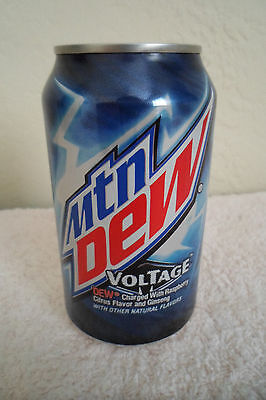 Mtn Dew Voltage Collectible 12oz Can Limited Design Mountain Dew Advertising