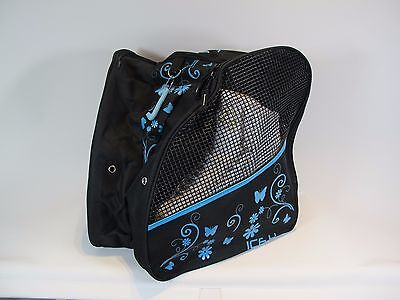NEW Ice H - skating bag - Turquoise Flower/Butterfly print