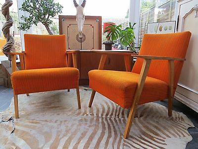 Vintage East German / Danish Style  Arm Chairs Perfect 4 Re-Upholstery  Oc16-36