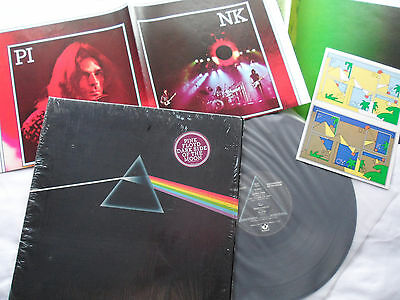 PINK FLOYD Original **1st Press** Dark Side of Moon LP POSTERS/STICKERS *SHRINK*